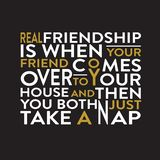 Friendship Quote and Saying good for print design stock illustration