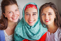 Friendship of the religions concept Stock Photos