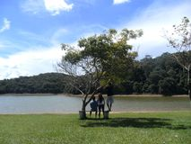 Friendship and rest in a damm in Minas Gerais, BRazil Royalty Free Stock Image