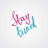 Friendship and Romantic love lettering Royalty Free Stock Photo
