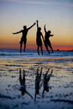 Friendship Silhouette Stock Images
