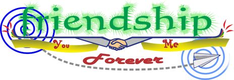 Friendship sticker Stock Images