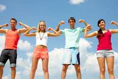 Friendship is strength Royalty Free Stock Photo
