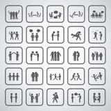 Friendship symbol set. On gray background Royalty Free Stock Photo