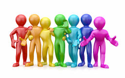 Friendship. Teamwork. Group of people. Friendship. Teamwork. Group of people on white isolated background. 3d Royalty Free Stock Photos