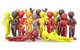 Friendship. Teamwork. Group of people. vector illustration