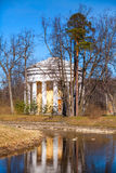 Friendship temple. Round pavilion in Pavlovsk park Stock Photos