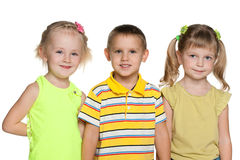 Friendship of three children Royalty Free Stock Images