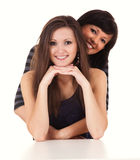 Friendship - Two best girlfriends hugging each other Royalty Free Stock Images