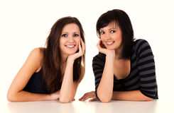 Friendship - Two best girlfriends Royalty Free Stock Photo