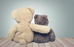 Friendship. Two teddy bears Stock Photos