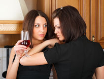 Friendship and wine. Royalty Free Stock Photography