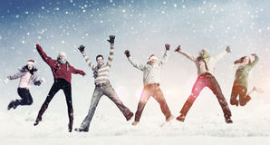 Friendship Winter Happiness Togetherness Concept Stock Photography