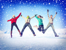 Friendship Winter Happiness Togetherness Concepts Royalty Free Stock Images