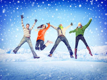 Friendship Winter Happiness Togetherness Concepts Stock Photo