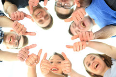 Friendship, youth and people concept - group Royalty Free Stock Photo
