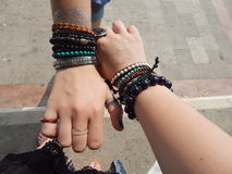 Frienship bracelets Stock Photos