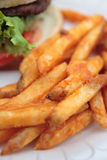 fries бургера Стоковое Фото