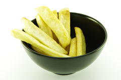 Fries in a Black Bowl Royalty Free Stock Photo