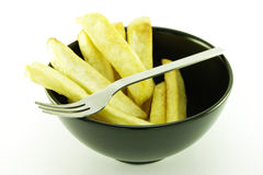 Fries in a Black Bowl Royalty Free Stock Photos