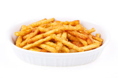 Fries in  a bowl Stock Photography