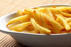 Fries chips bowl Stock Image