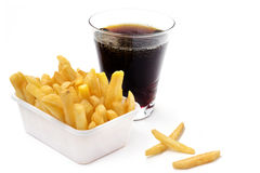 Fries and cola Royalty Free Stock Photo