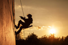 FRIES combat rappeling Royalty Free Stock Photography