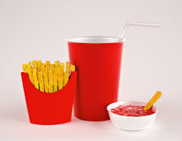 Fries with drink Stock Image