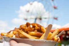 Fries at fall fair Royalty Free Stock Images