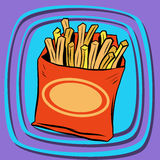 Fries fast food Royalty Free Stock Photo