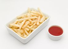 Fries with ketchup Stock Photo