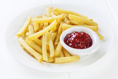 Fries with Ketchup Stock Photos