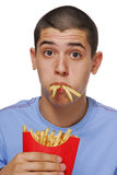 Fries kid Royalty Free Stock Images