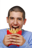 Fries kid Stock Images