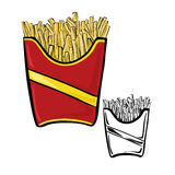 Fries pack Royalty Free Stock Photos