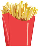 Fries Potato in Bucket Stock Photos