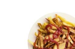 Fries potatoes Royalty Free Stock Photos