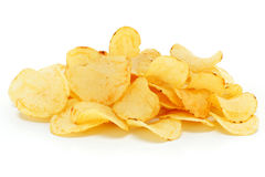 Fries potatoes pie on white background Stock Image