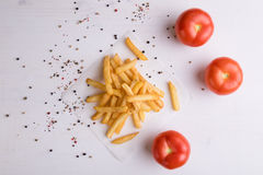 Fries with seasoning Royalty Free Stock Photography