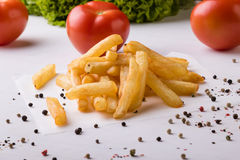Fries with seasoning Stock Image
