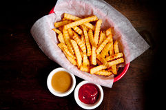 Fries and a side of gravy Stock Photo