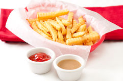 Fries and a side of gravy Stock Image