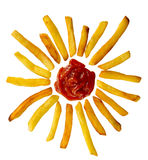 Fries with sun Stock Image