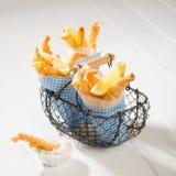 Fries & Tempura Prawns Royalty Free Stock Photography