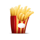 Fries  on the white background  illustration Royalty Free Stock Photography
