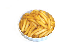 Fries in a white plate Royalty Free Stock Images