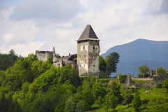 Friesach Schloss, Ruine, Festung, Carinthia stockfotografie
