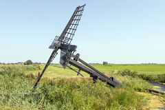 Friese paaltjasker windmill. Royalty Free Stock Images