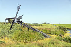 Friese paaltjasker windmill. Stock Photos